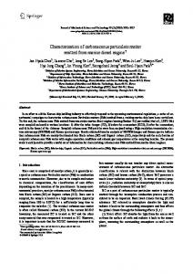Characterization of carbonaceous particulate matter ... - Springer Link