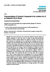 Characterization of Carbonyl Compounds in the Ambient Air of ... - MDPI