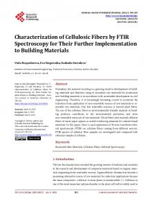 Characterization of Cellulosic Fibers by FTIR Spectroscopy for Their