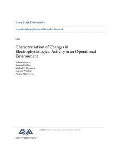 Characterization of Changes in Electrophysiological ...