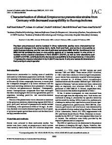 Characterization of clinical Streptococcus pneumoniae strains from ...