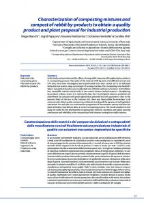 Characterization of composting mixtures and compost of rabbit by ... - IZS