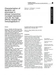 Characterization of dendritic cell phenotype in allergic conjunctiva