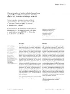 Characterization of epidemiological surveillance systems ... - Scielo.br