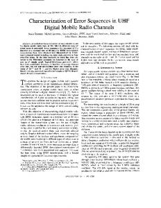 Characterization of error sequences in UHF digital mobile radio