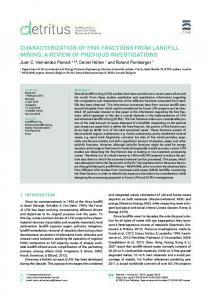 characterization of fine fractions from landfill mining