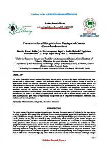 Characterization of fish gelatin from Blackspotted Croaker - Scholars ...