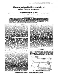 Characterization of fluid flow velocity by optical ... - OSA Publishing