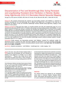 Characterization of Foci and Breakthrough Sites During Persistent and