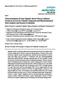 Characterization of Four Popular Sweet Cherry Cultivars Grown in ...