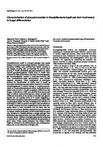 Characterization of glucosylceramides in Pseudallescheria boydii and ...