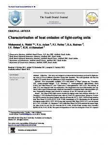 Characterization of heat emission of light-curing units - CyberLeninka