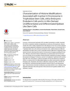 Characterization of Histone Modifications Associated with Inactive X