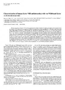 Characterization of human factor VIII and ... - Wiley Online Library