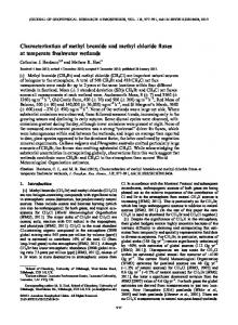 Characterization of methyl bromide and methyl ... - Wiley Online Library