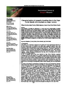 Characterization of mosquito breeding sites in the Cape Verde islands ...
