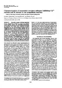 Characterization of muscarinic receptor subtypes inhibiting Ca2+ ...