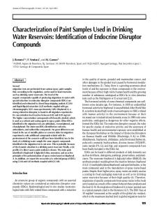 Characterization of Paint Samples Used in Drinking Water Reservoirs ...