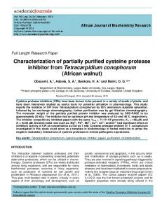 Characterization of Partially Purified Cysteine Protease Inhibitor From ...