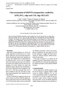 Characterization of Pd(PVP) nanoparticles studied by AFM, Pd L3 ...