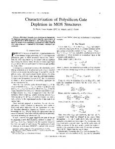 Characterization of Polysilicon-Gate Depletion in MOS ... - IEEE Xplore