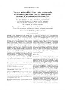 Characterization of Pt-, Pd-spermine complexes for their effect on ...