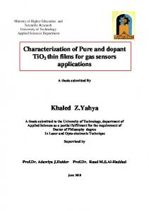 Characterization of Pure and dopant TiO2 thin films