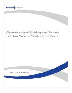 Characterization of Radio Frequency Emissions From Two Models ...