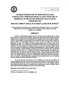 characterization of raw zeolite and surfactant-modified zeolite and ...