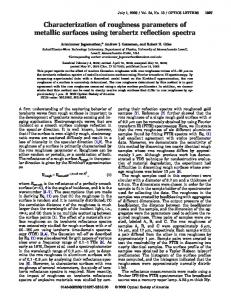 Characterization of roughness parameters of ... - OSA Publishing