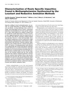 Characterization of Route Specific Impurities Found ... - BioMedSearch