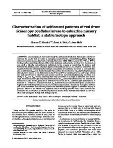 Characterization of settlement patterns of red drum Sciaenops ...