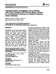 Characterization of Sitagliptin Use in Patients with Type 2 Diabetes ...