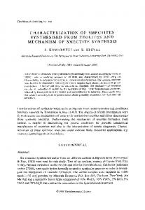 characterization of smectites synthesised from zeolites and ...