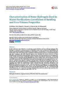Characterization of Some Hydrogels Used in Water ...