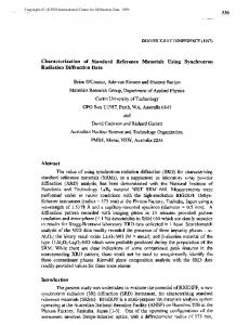 Characterization of Standard Reference Materials ... - Semantic Scholar