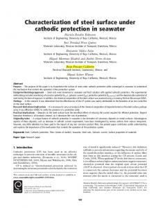 Characterization of steel surface under cathodic ... - IngentaConnect