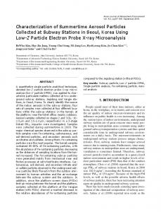 Characterization of Summertime Aerosol Particles Collected at ... - kisti