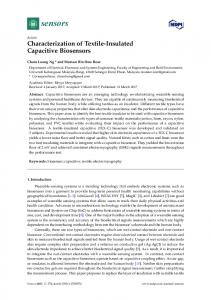 Characterization of Textile-Insulated Capacitive ... - Semantic Scholar