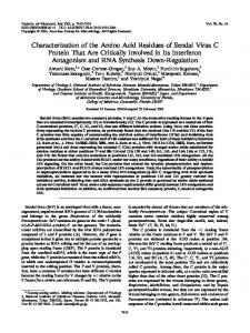 Characterization of the Amino Acid Residues of ... - Journal of Virology