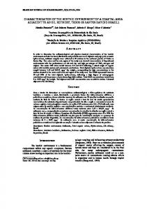 characterization of the benthic environment of a coastal ... - CiteSeerX