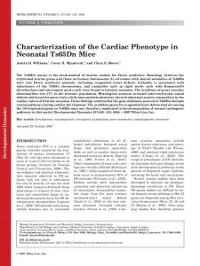Characterization of the cardiac phenotype in ... - Wiley Online Library