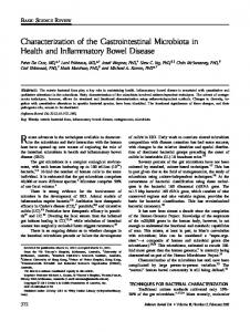 Characterization of the gastrointestinal ... - Wiley Online Library