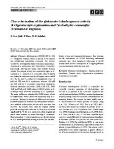 Characterization of the glutamate dehydrogenase ... - Springer Link