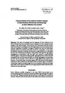 Characterization of the humoral immune response of experimentally ...