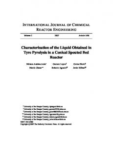 Characterization of the Liquid Obtained in Tyre