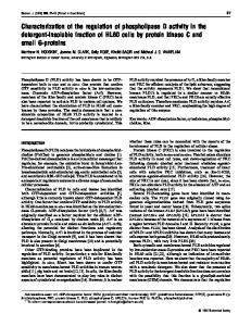 Characterization of the regulation of phospholipase D activity in the ...