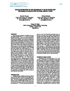 characterization of the secondary flow in turbulent ... - TSFP conference