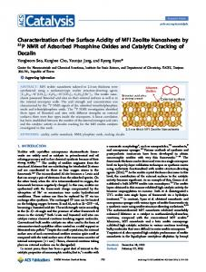 Characterization of the Surface Acidity of MFI Zeolite Nanosheets by ...