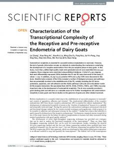 Characterization of the Transcriptional Complexity ... - Semantic Scholar